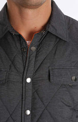 Charcoal Quilted Shirt Jacket - jachs