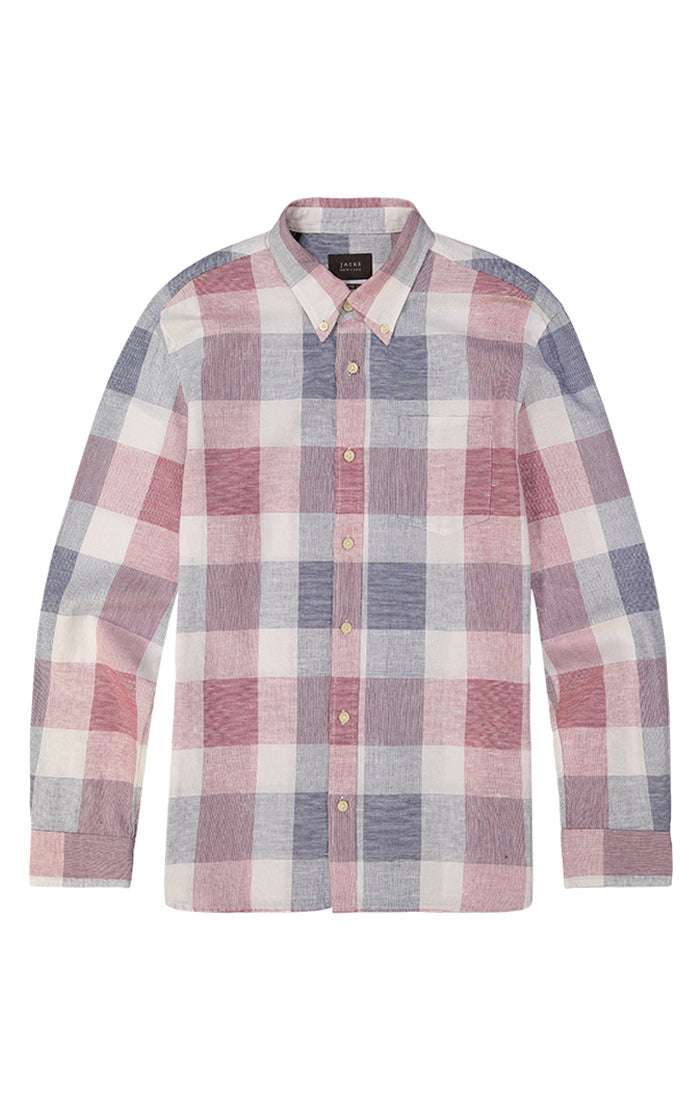 Red and Blue Madras Plaid Shirt - jachs