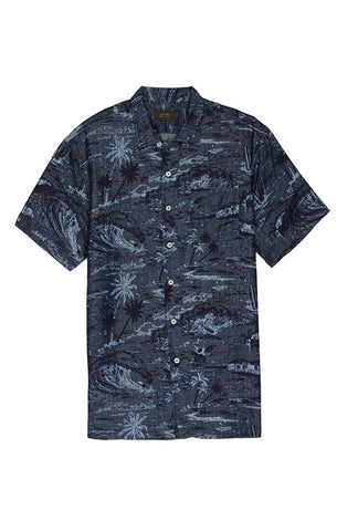 Black Star Print Short Sleeve Shirt
