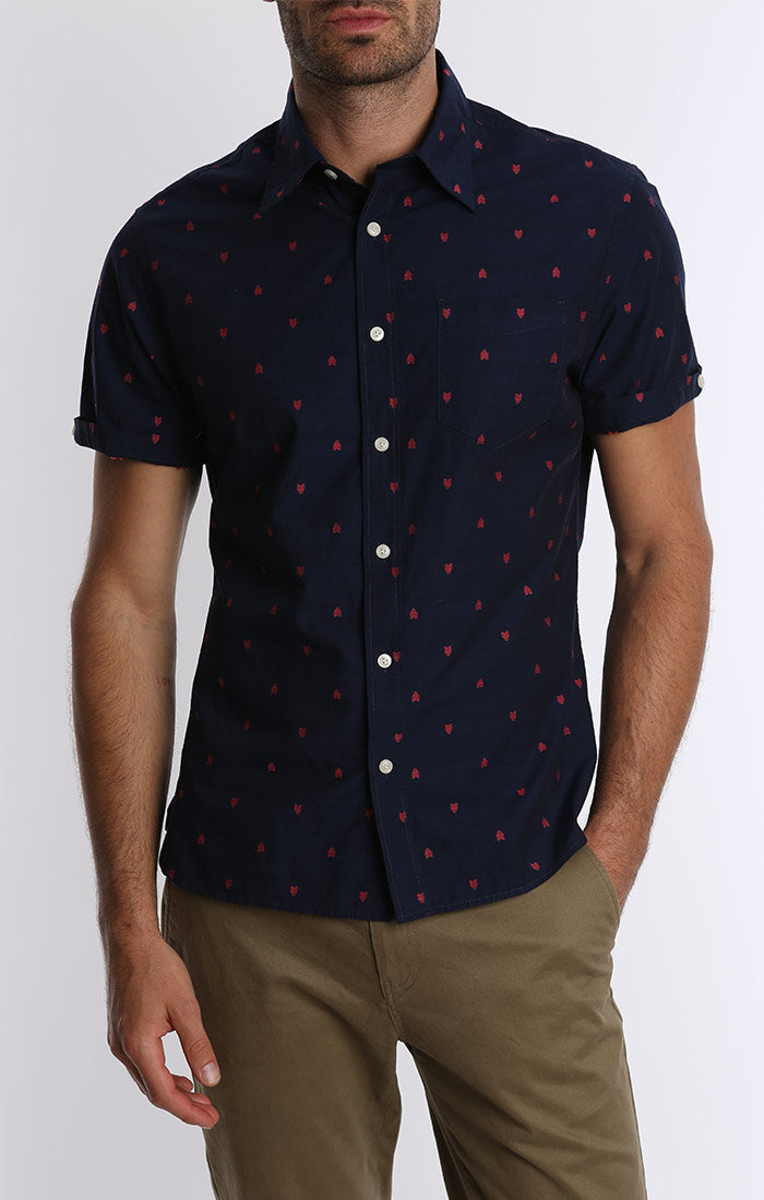 Arrow Print Short Sleeve Shirt