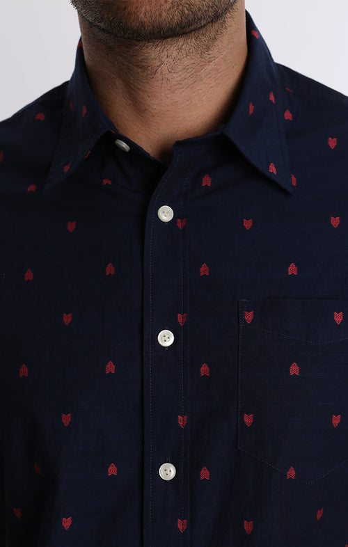 Arrow Print Short Sleeve Shirt - jachs