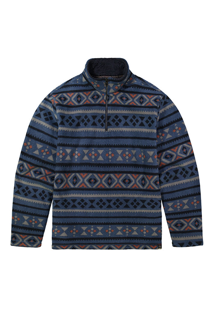 Aztec Quarter-Zip Sherpa Fleece Pullover