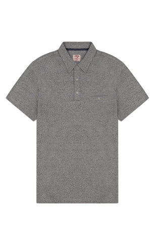 Tan Cotton Linen Polo
