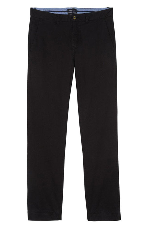 Black Bowie Stretch Cotton Chino - jachs