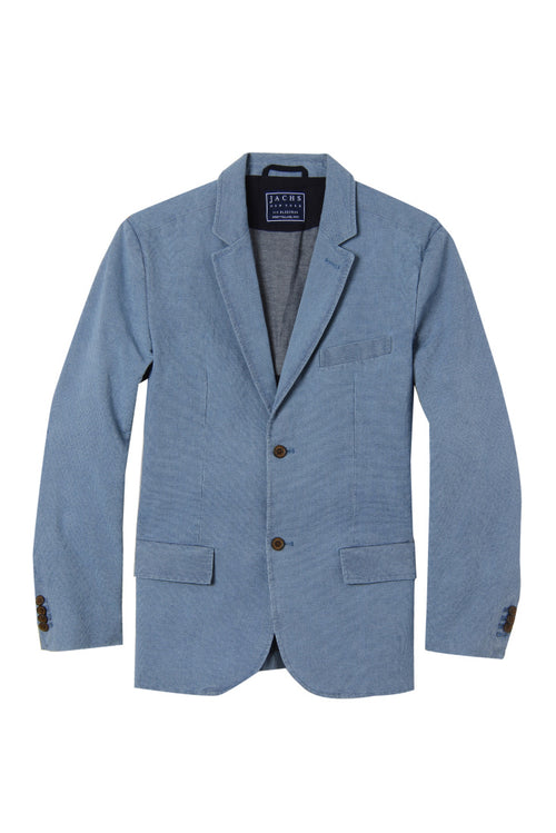 Light Blue Cotton Oxford Blazer
