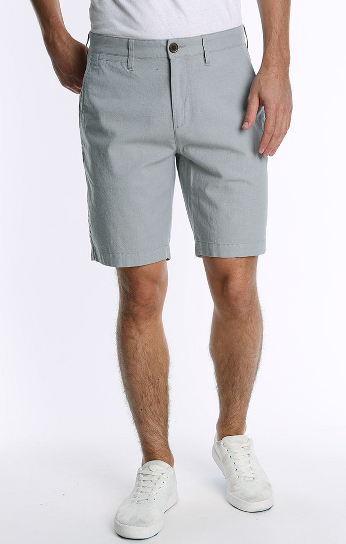 Light Blue Stretch Chambray Short
