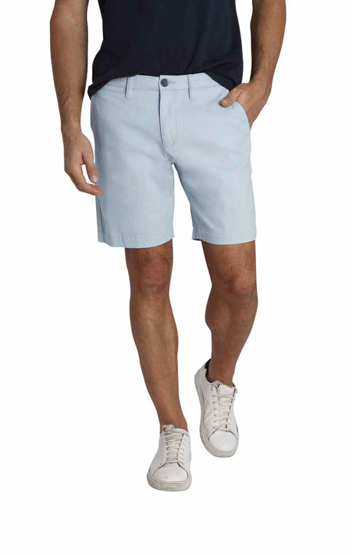 Light Blue Stretch Twill Chino Short - jachs