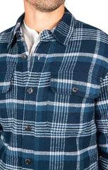 Navy Sherpa Flannel Shirt Jacket - JACHS NY