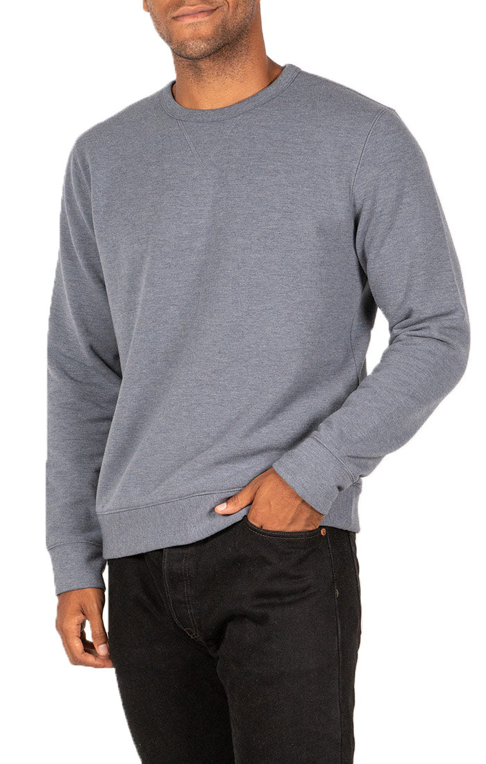 Blue Soft Touch Crewneck Pullover
