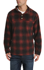 Red Plaid Fleece Mock Neck Pullover - JACHS NY