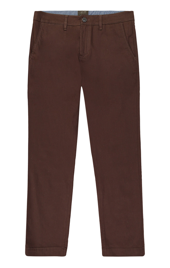 Brown Straight Fit Stretch Bowie Chino - jachs
