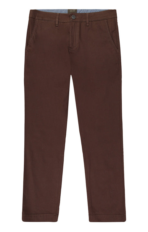 Brown Bowie Stretch Chino Pant - jachs