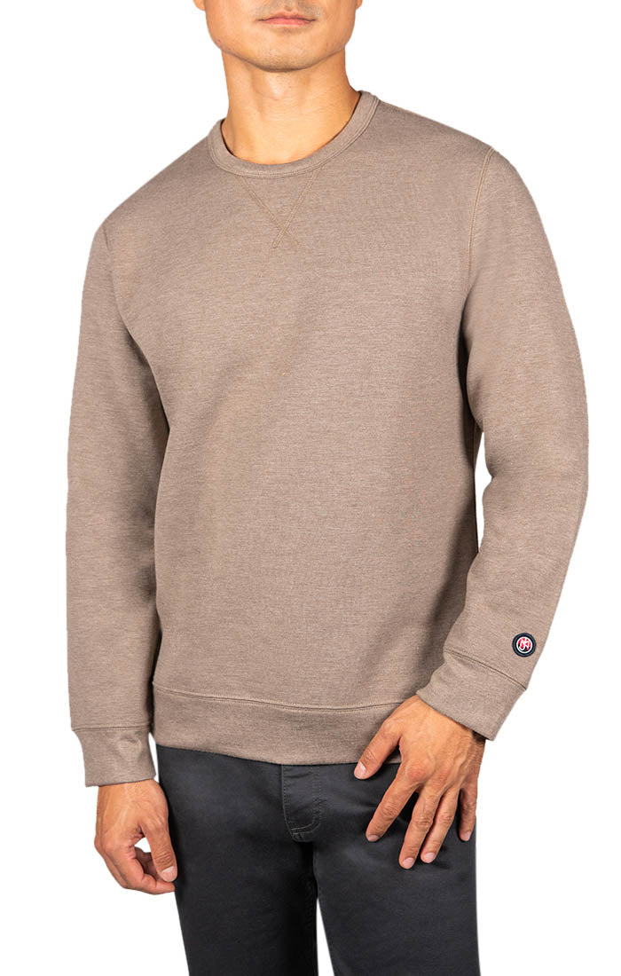 Brown Soft Touch Crewneck Pullover - JACHS NY