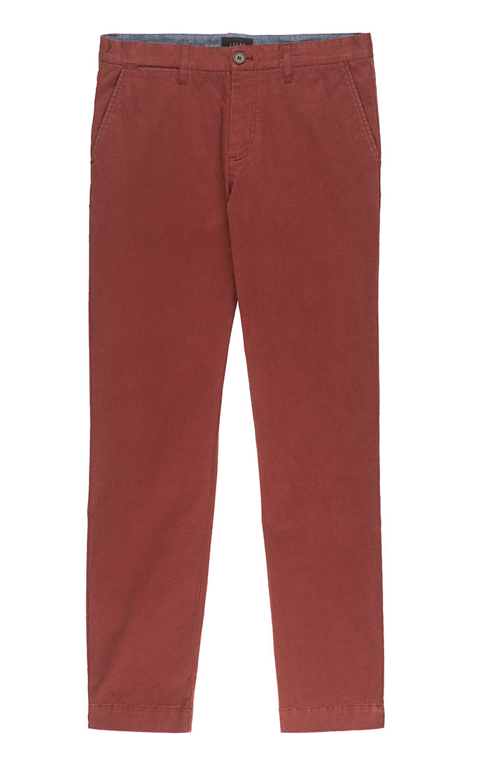 Burgundy Bowie Stretch Straight Chino Pant - jachs