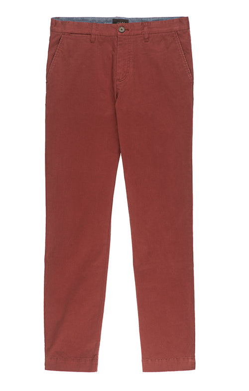 Burgundy Bowie Stretch Chino Pant - jachs