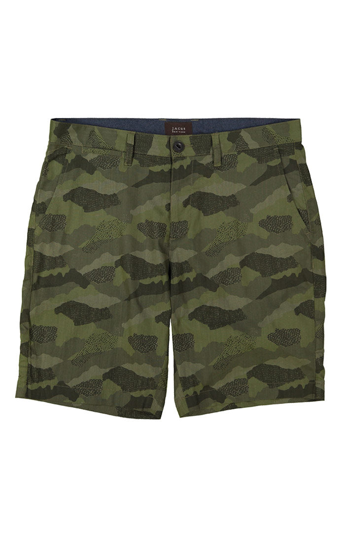 Camo Stretch Chambray Short - jachs