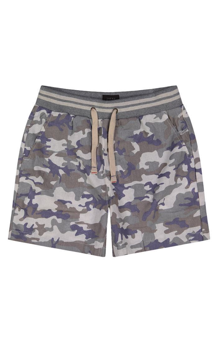 Cotton Linen Pull-On Camo Short - jachs