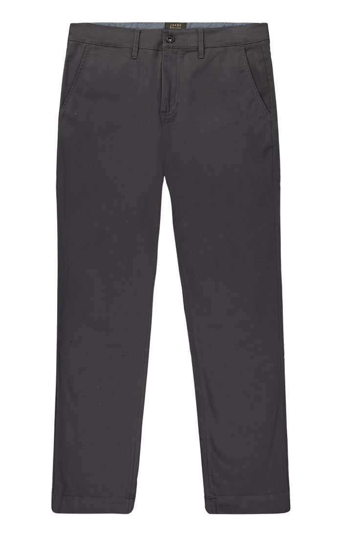 Charcoal Straight Fit Stretch Bowie Chino - JACHS NY