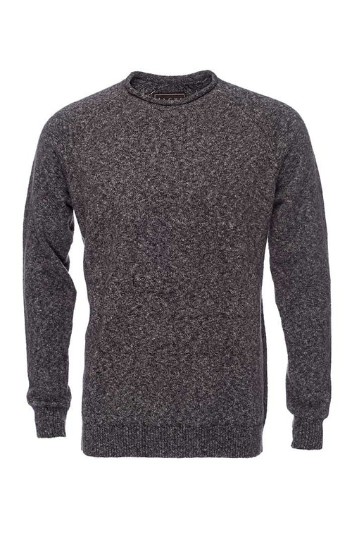 Charcoal Melange Roll Neck Sweater - jachs