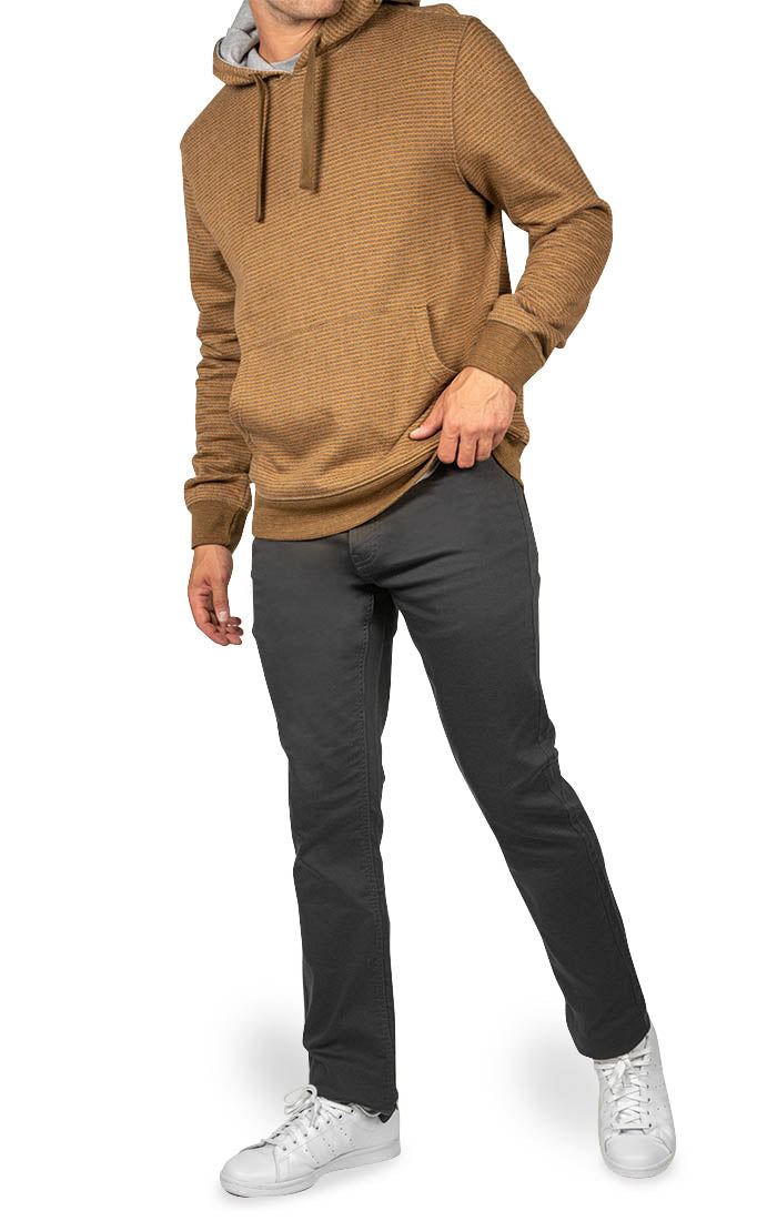 Dark Grey Straight Fit Stretch Traveler Pant - jachs