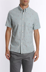 Chili Chambray Short Sleeve Shirt - jachs