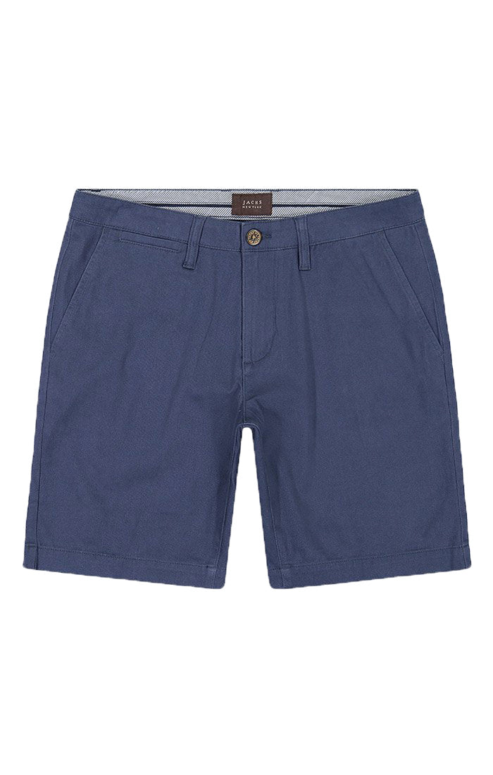 Navy Stretch Twill Chino Short