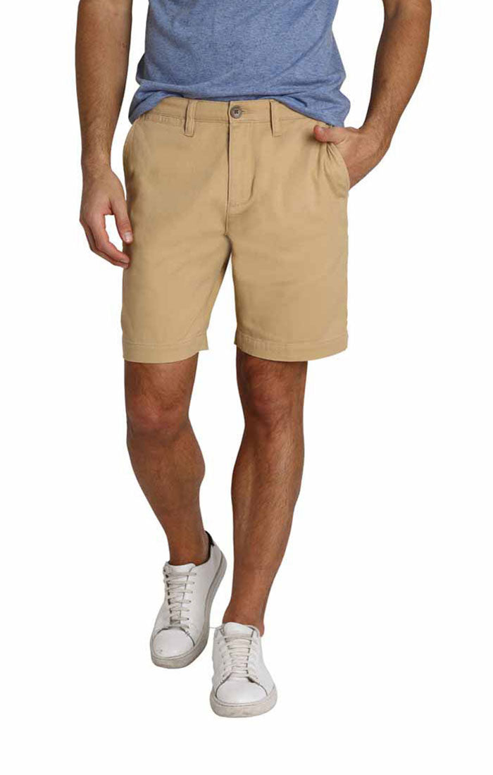 Tan Stretch Twill Chino Short - jachs