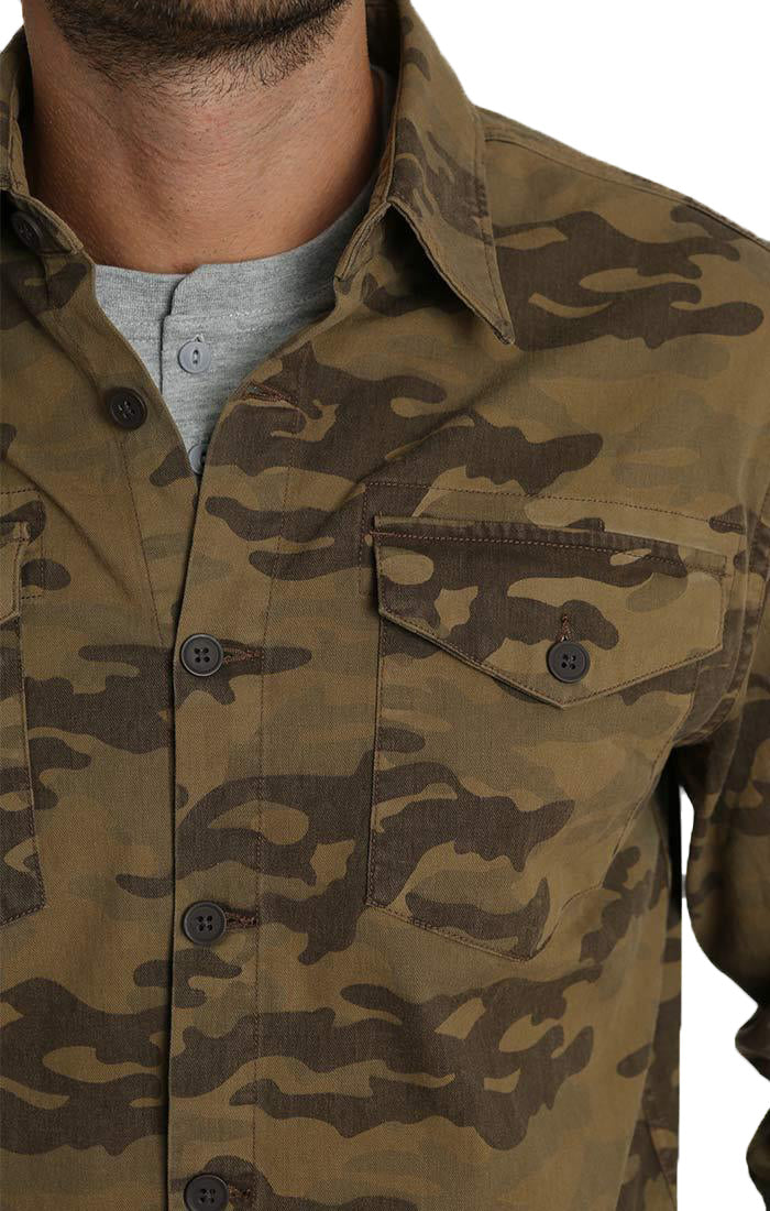 Camo Stretch Denim Workshirt - jachs