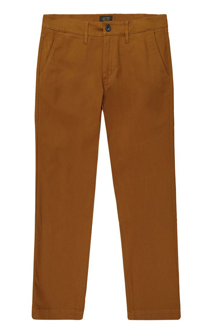 Copper Flannel Lined Bowie Stretch Chino Pant - jachs