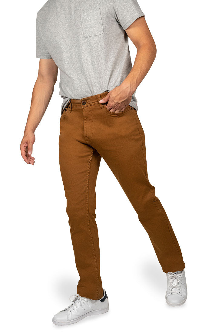 Copper Straight Fit Stretch Twill Pant - JACHS NY