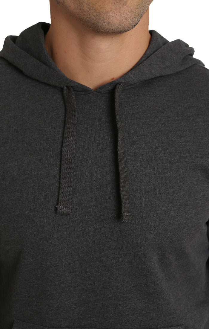 Dark Heather Grey French Terry Pullover Hoodie