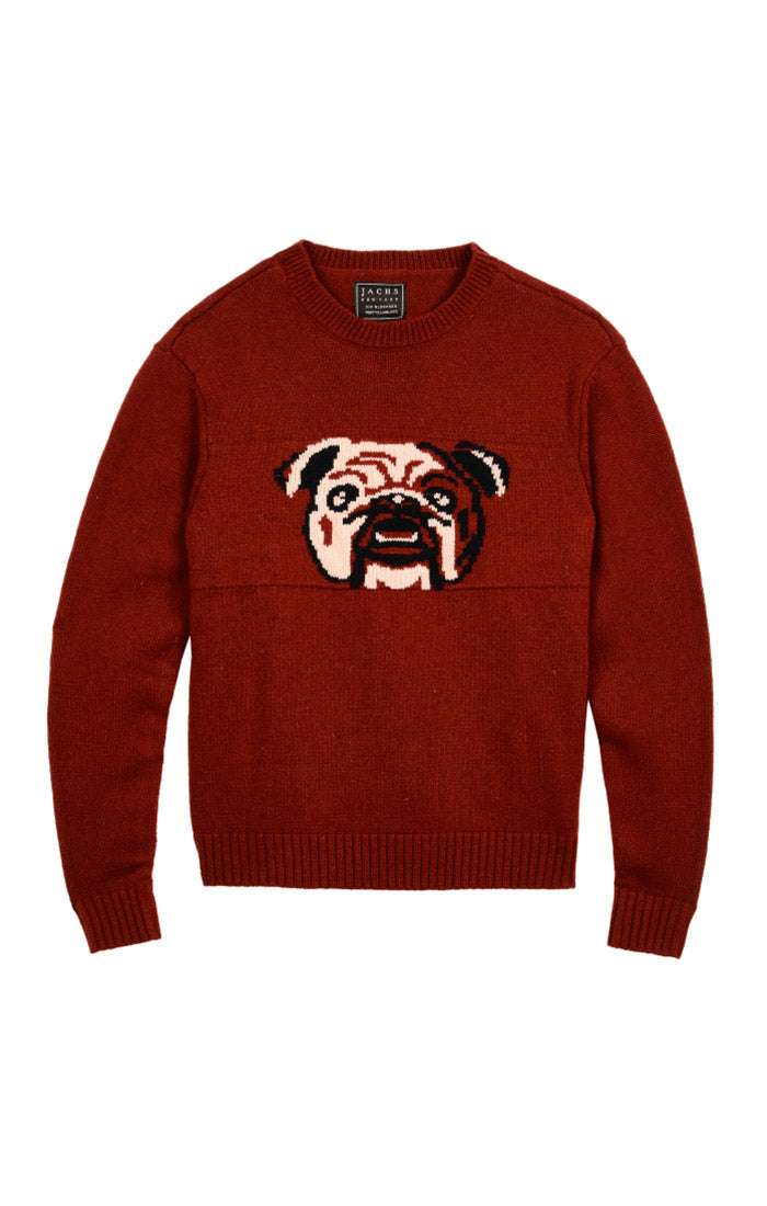 Bulldog Merino Wool Crewneck Sweater - jachs