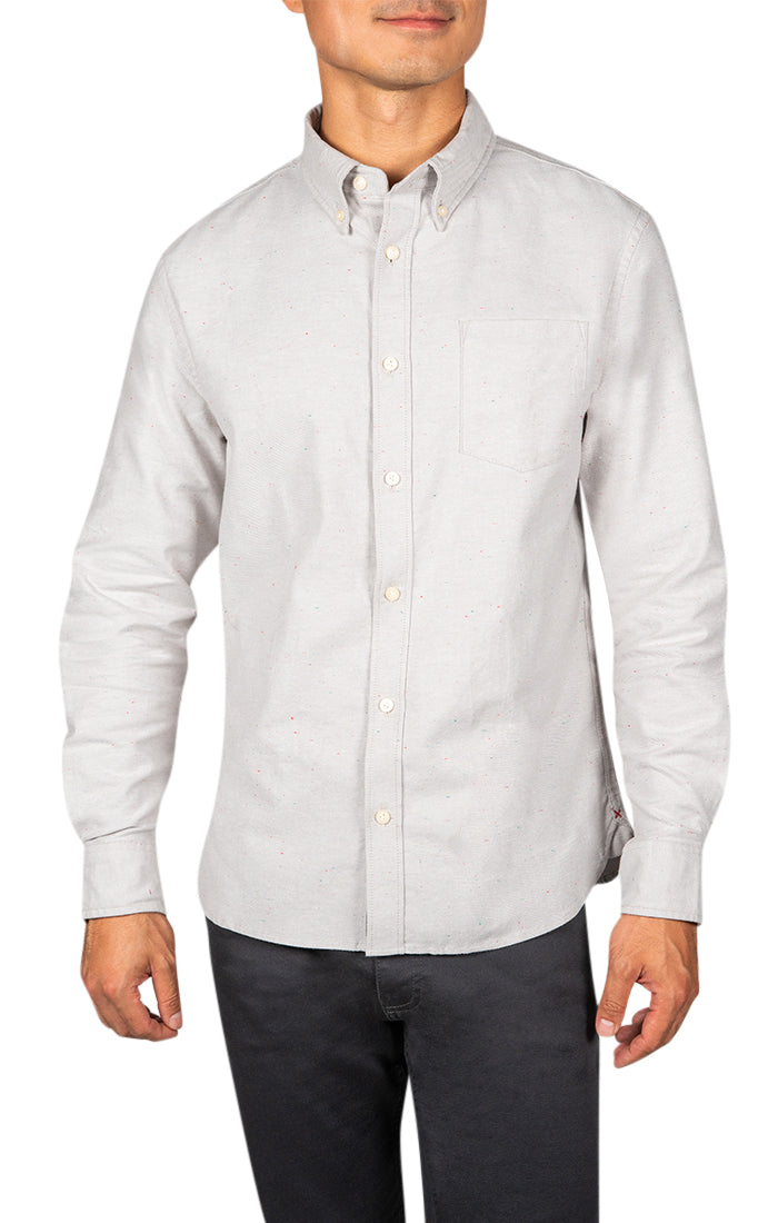 Grey Donegal Oxford Shirt
