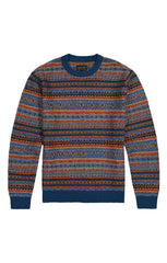 Blue Reverse Fair Isle Sweater