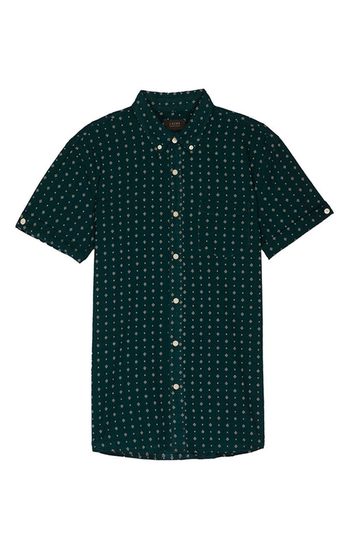 Geo Print Short Sleeve Shirt - jachs