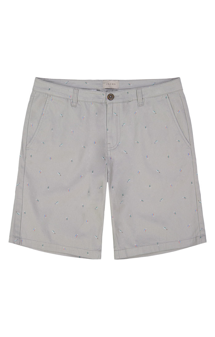Fish Lure Print Stretch Chino Short - jachs