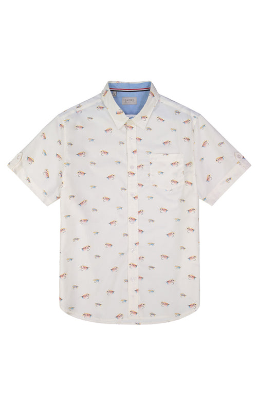 Fly Fishing Print Short Sleeve Shirt - jachs