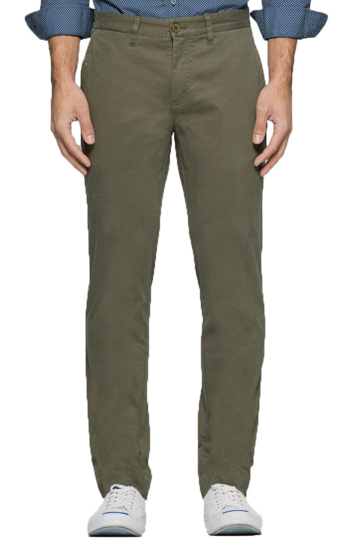 Forest Green Straight Fit Stretch Bowie Chino - jachs