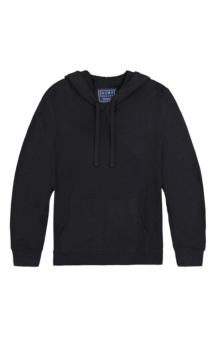 Jet Black French Terry Pullover Hoodie - jachs