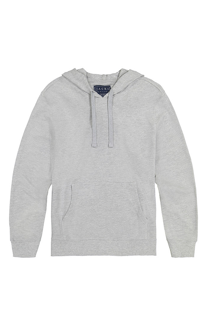 Light Heather Grey French Terry Pullover Hoodie