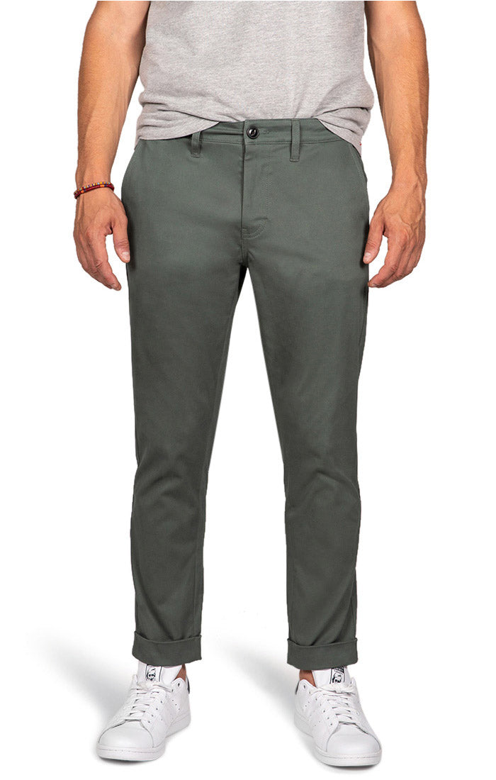 Spruce Green Bowie Stretch Cropped Chino Pant - jachs