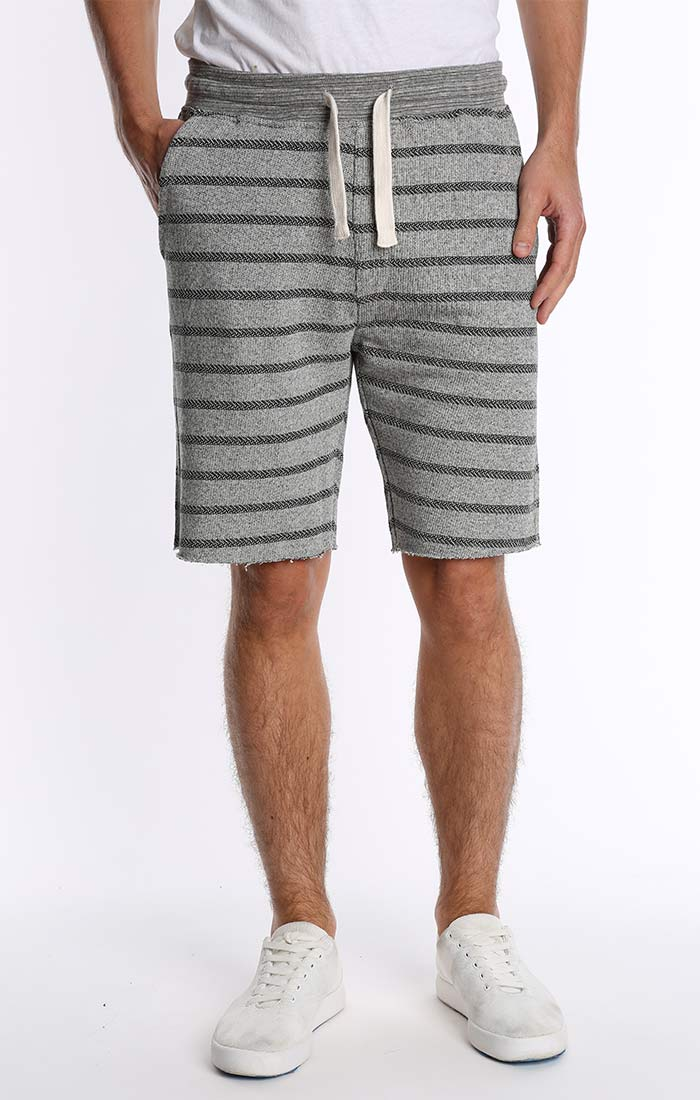 Grey French Terry Pull On Short