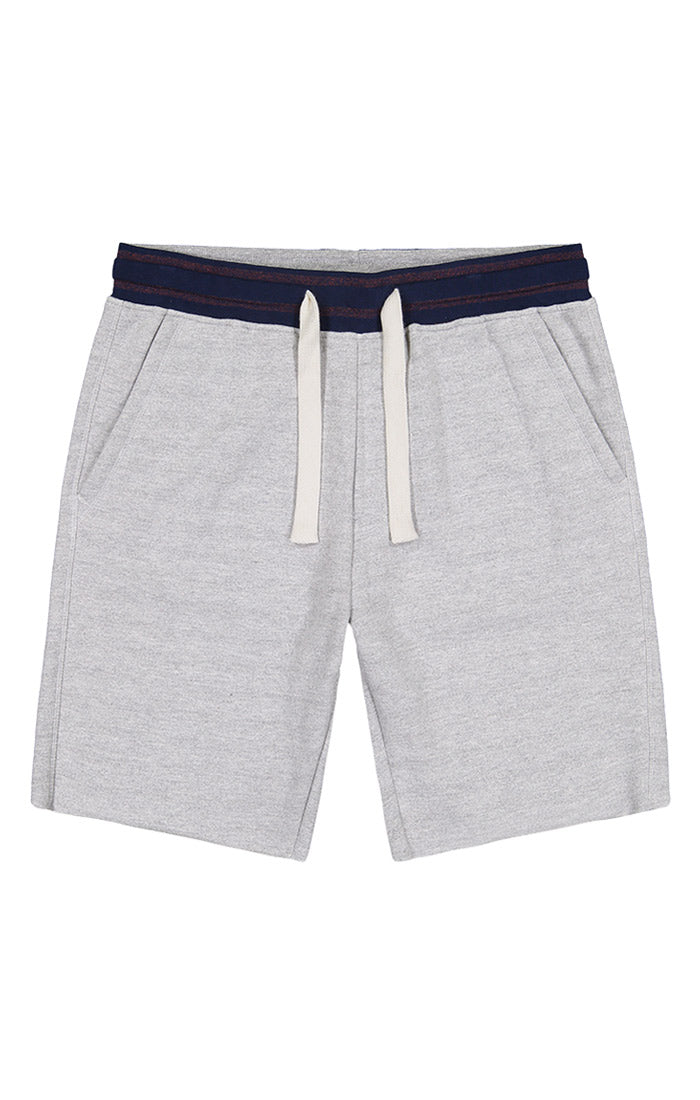 Grey French Terry Pull On Short - jachs