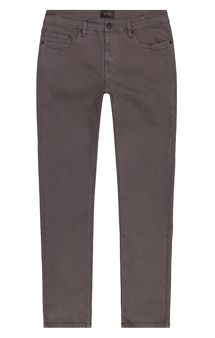 Grey Stretch Twill 5 Pocket Pant - jachs
