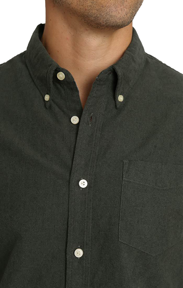 Forest Green Brushed Oxford Shirt - jachs