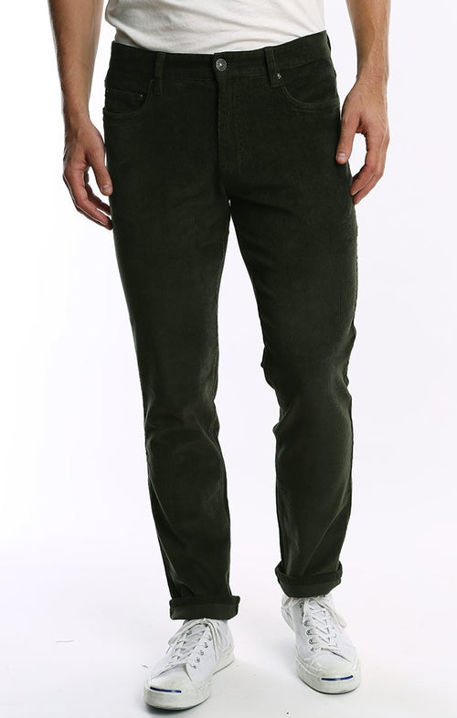 Forest Green Stretch Corduroy Pant - jachs