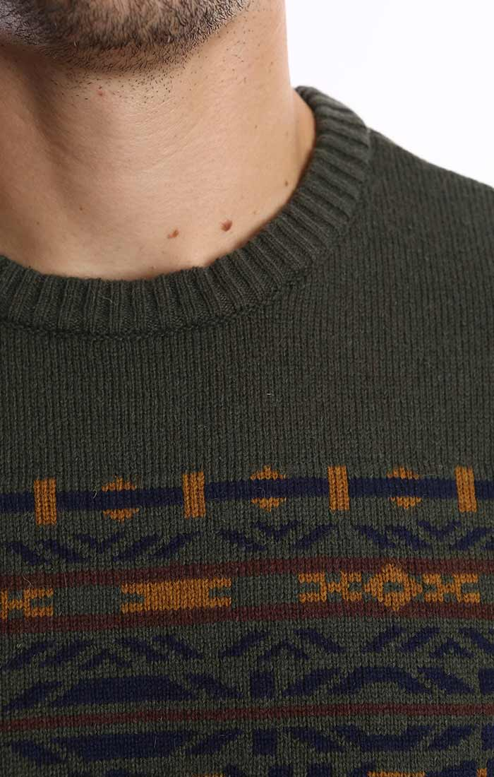 Forest Green Fairsile Merino Wool Sweater