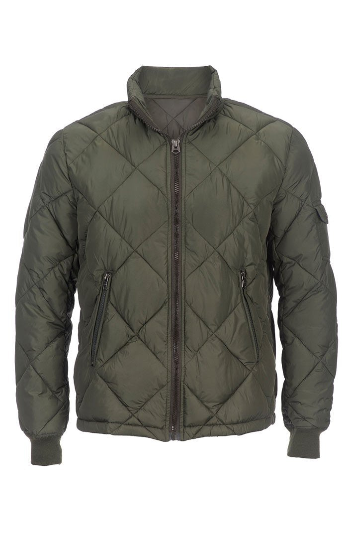 Green Quilted Puffer Jacket - jachs