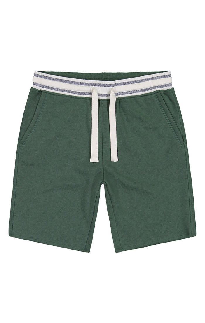 Green French Terry Pull On Short