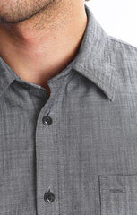 Grey Slub Chambray Shirt - jachs